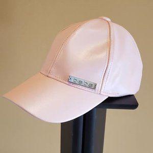 Bebe Pink Faux Leather Baseball Cap NWOT